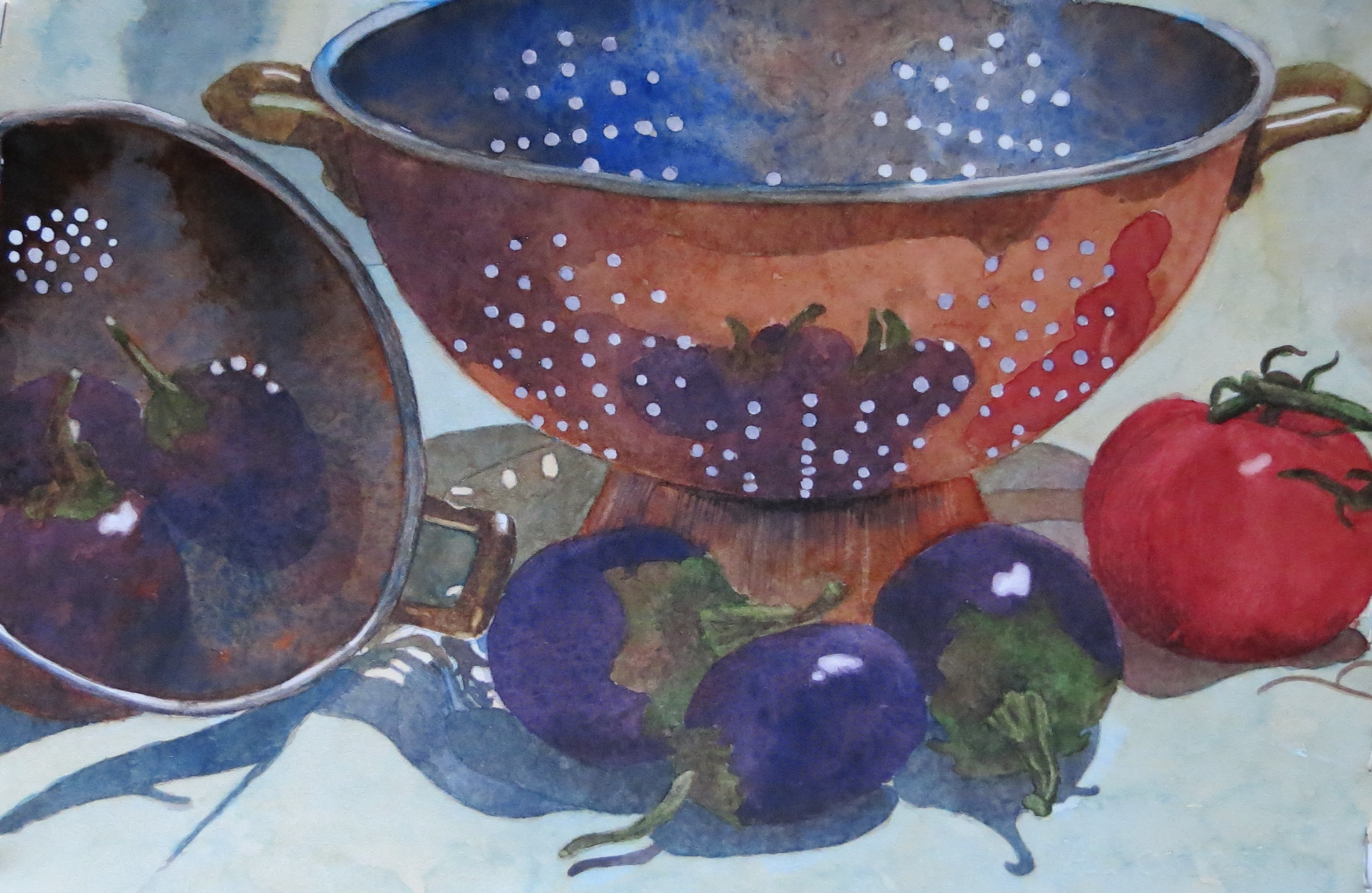Mary Lou Roberts Colander Eggplant 16 X