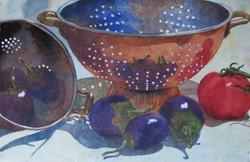 Mary Lou Roberts Colander Eggplant 16 X