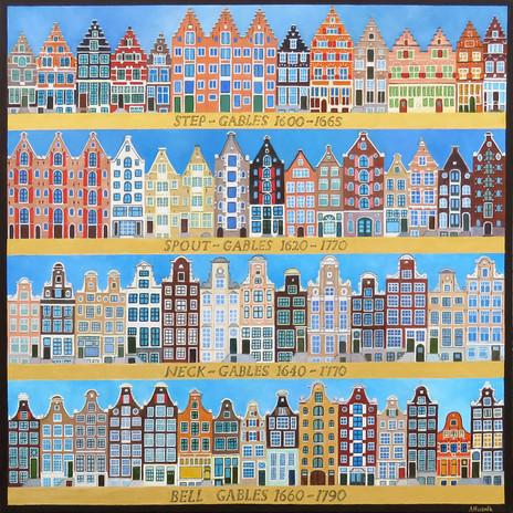 Seventeenth Century Gables, Amsterdam