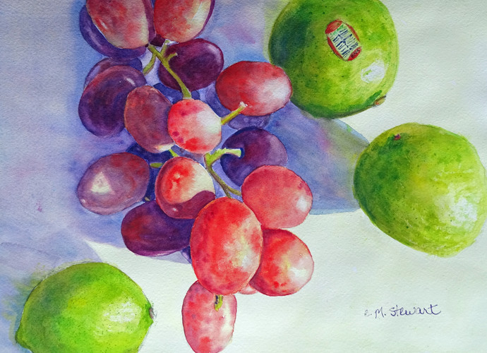 Grapes with Lime