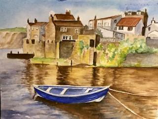 Yorkshire Fishing Village Scene