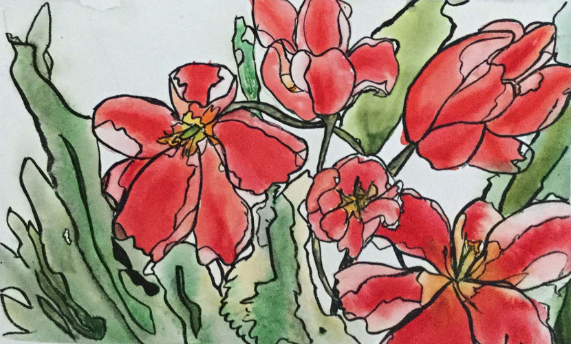 Stain Glass Tulips