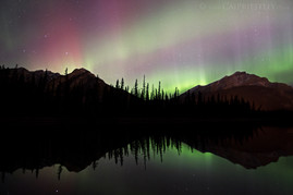Norquay Aurora Reflection