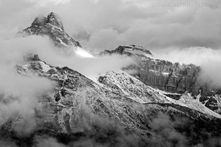 Cathedral Mountain B&W