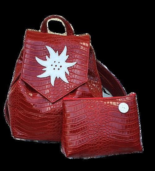 Backpack Croco rouge