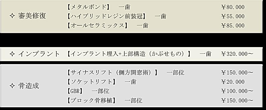 安芸高田市の歯医者、上野歯科医院の自費料金表がご覧になれます。