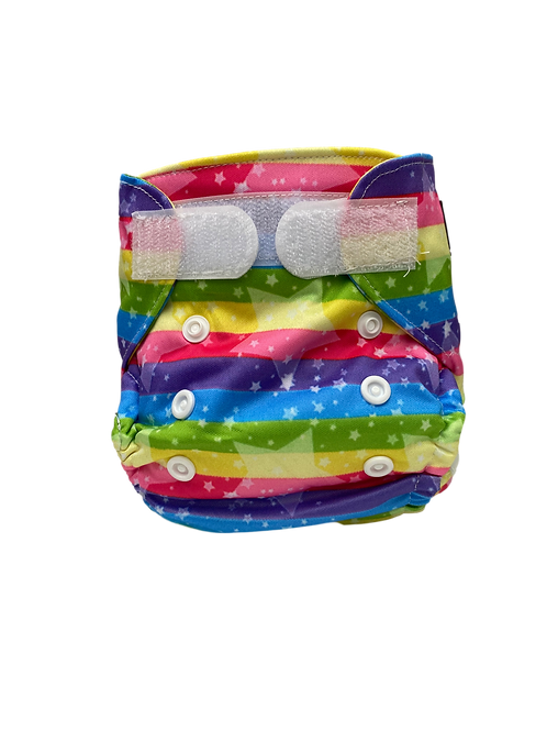 Rainbow & Stars Newborn Wrap