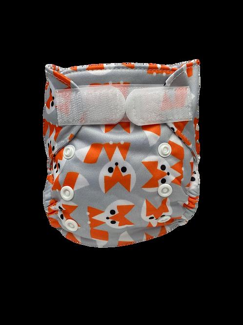Geo Foxes Newborn Wrap