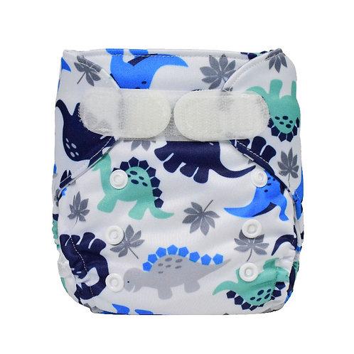 Blue dino Newborn Wrap