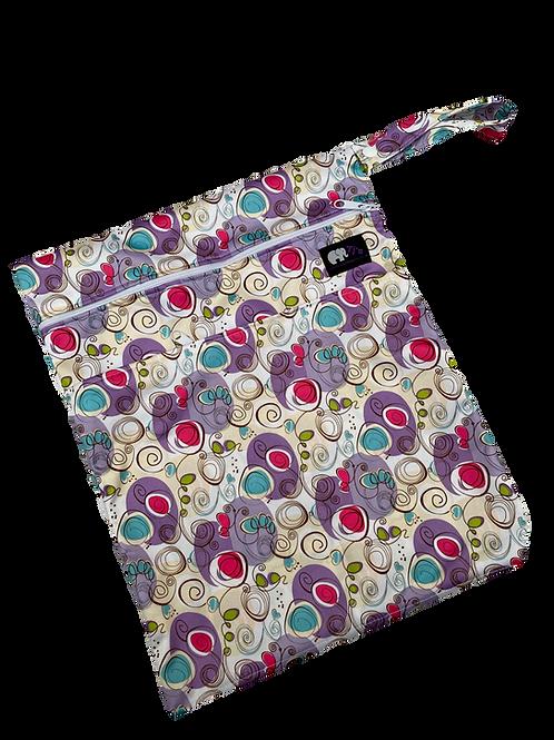 Purple Swirls Medium Bag