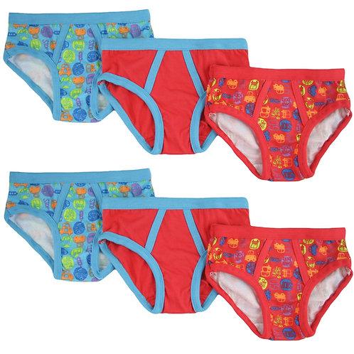 Brightbots 6 pack boys undies