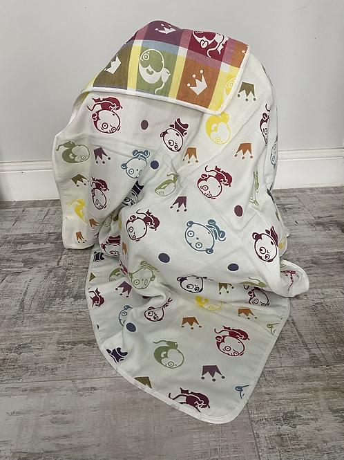 Monkey King Reversible Cot Blanket