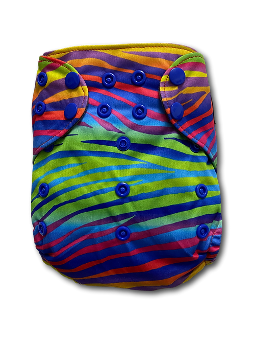 Rainbow zebra  Premium BTP charcoal pocket