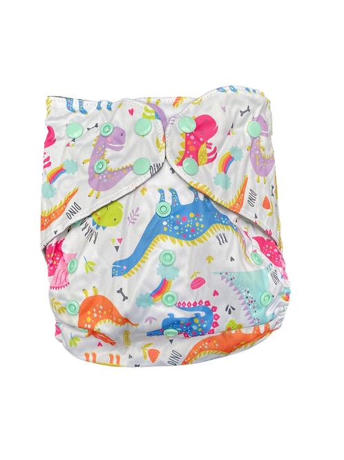 Rainbow Dino Junior charcoal pocket