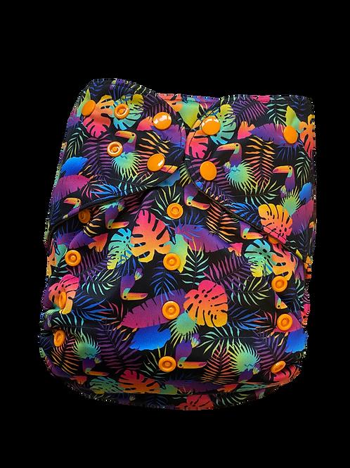 Neon jungle   premium Junior charcoal pocket