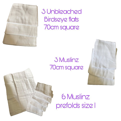 Newborn nappy hire kits