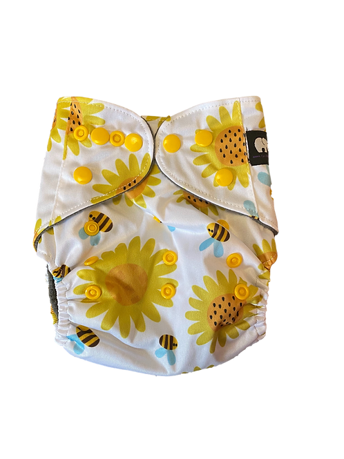 Bees & flowers  BTP charcoal pocket