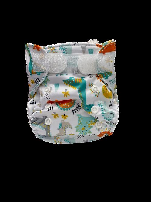 Pastel Dino Newborn Wrap