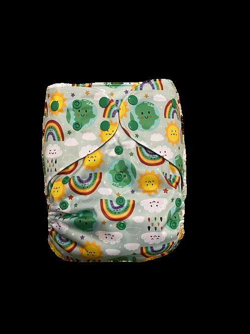 Rainbow world   premium Junior charcoal pocket
