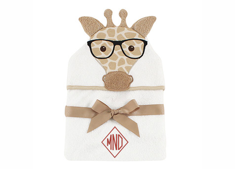 Nerdy Giraffe Hooded Bath Towel