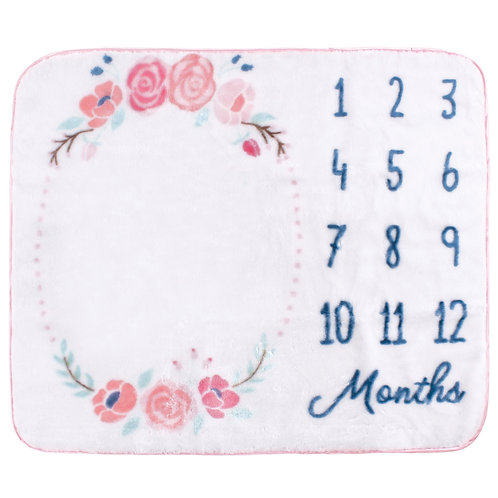 Personalized Milestone Blanket (Floral)