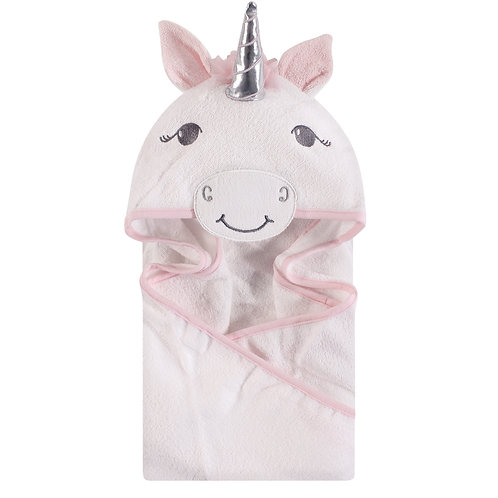 Personalized Hooded Towel (White Unicorn)