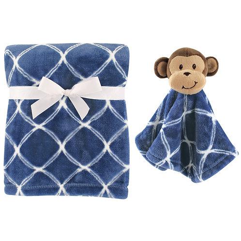 Personalized Blanket & Lovie Set (Monkey)