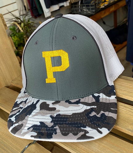 "Camo Trucker Flexfit Hat w/ ""P"""