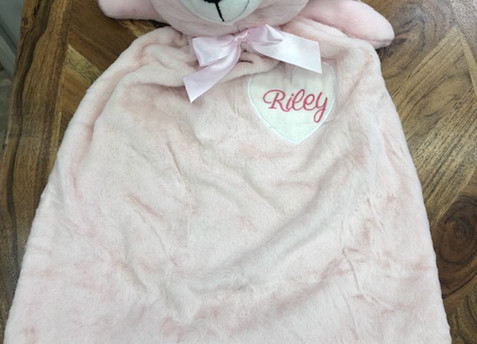Custom Embroidered Lovey- Large