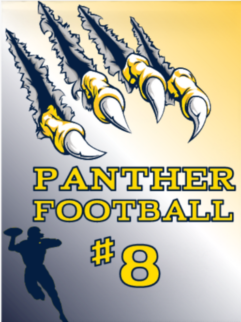 Panther Football Garden Flag