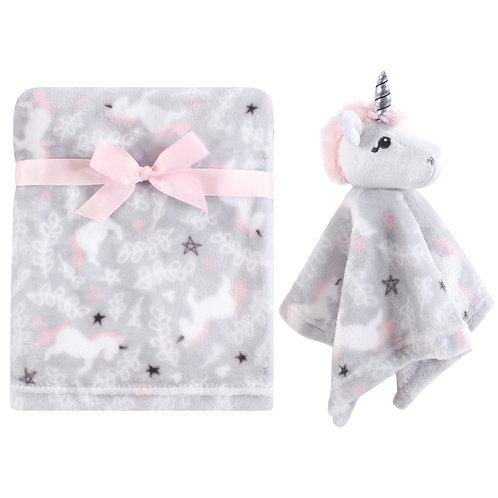 Personalized Blanket & Lovie Set (Whimsical Unicorn)