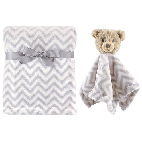 Personalized Blanket & Lovie Set (Bear)