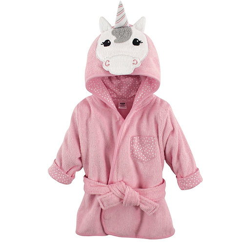 Personalized Animal Face Hooded Bath Robe (Unicorn)