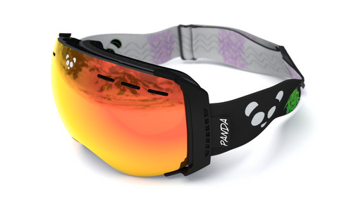 polarised ski goggles 6ypy  LENS:Pearlescent Red polarised lens with UV400+ protection + Maize Yellow  HD low light