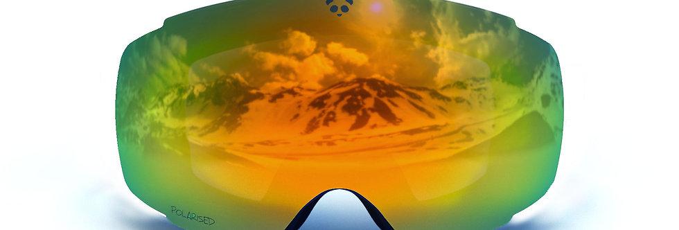 Green/Orange Polarised Lens - COBALT