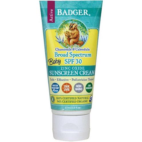 Badger 嬰孩 SPF30 有機防曬乳 - 洋甘菊及金盞花味