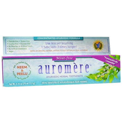 Auromere 草本薄荷牙膏 - 纯正甘草味不含薄荷 (117g)