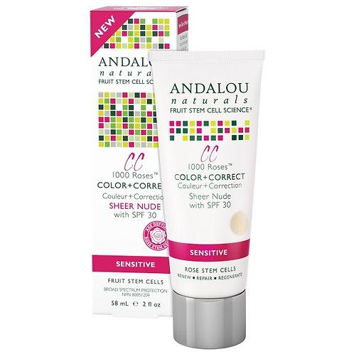 Andalou Naturals 安達露絲 1000 Roses™ SPF 30 透薄裸色CC防曬霜