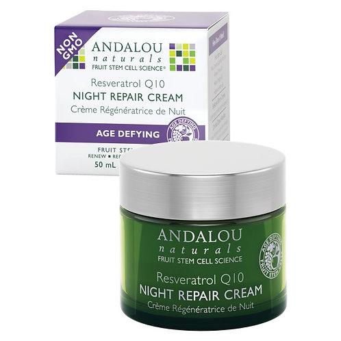 Andalou Naturals 安達露絲 白藜蘆醇Q10 晚間修護霜