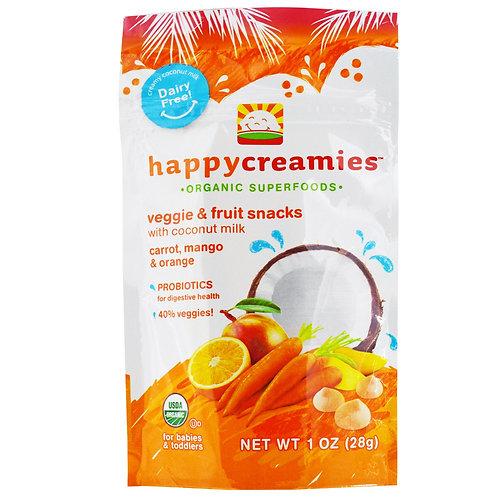 Nurture Inc. HappyCreamies 有機椰奶乳酪乾 (胡蘿蔔芒果)