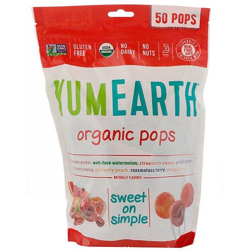 YumEarth Organic 有機棒棒糖 (50支)