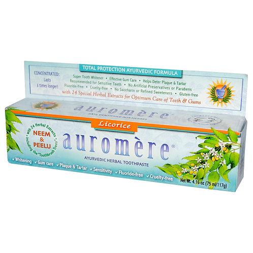 Auromere 草本薄荷牙膏 - 甘草味 (117g)