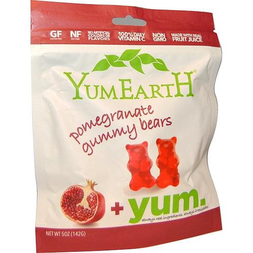 YumEarth Organic 無麩質熊仔軟糖 - 石榴味 (140g)