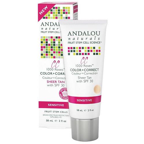 Andalou Naturals 安達露絲 1000 Roses™ SPF 30 自然膚色CC防曬霜