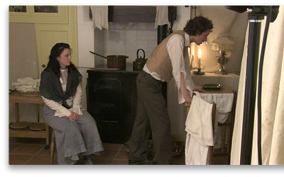 Parts played by Carina Clarke and Nick Toop
