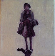 Acryl op doek, 10 bij 10cm