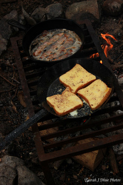 Fire-Cooked Bacon & French Toast