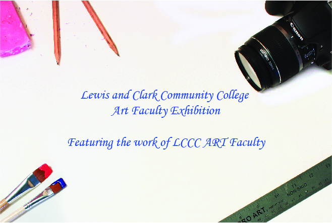 LCCC Art Faculty Exhibition postcard