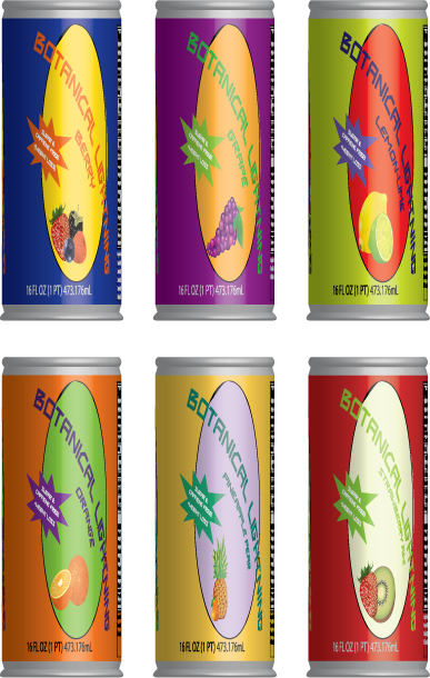 Prototype Energy Drink Cans, 3D
