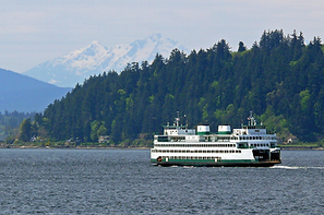 Winslow/Bainbridge Island ferry in North Kitsap